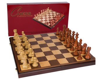 Wooden chess game board