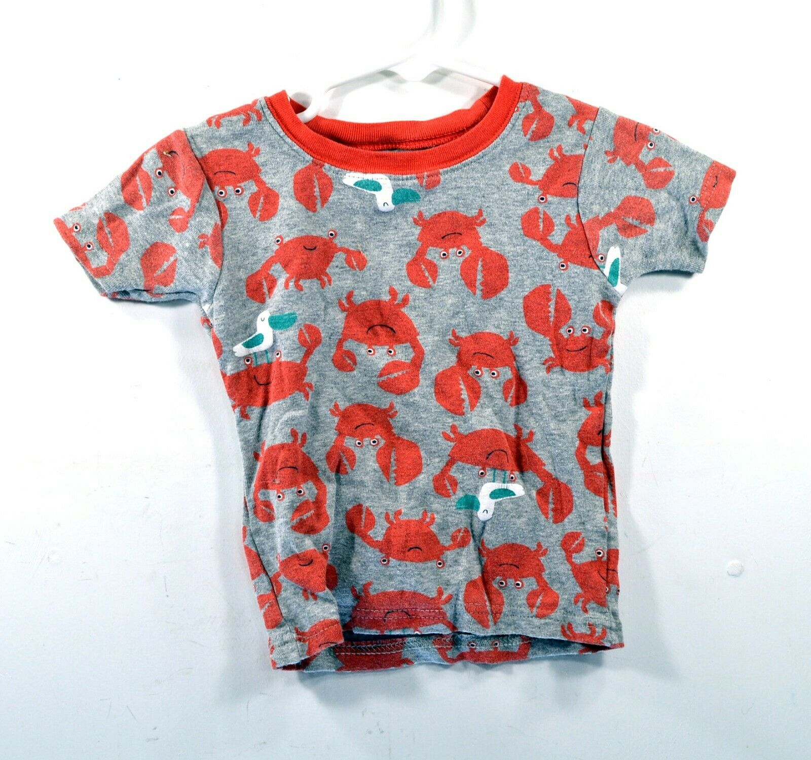 Carters Crab T-shirt - Toddler 2T - Gray - Crabs and Seagulls