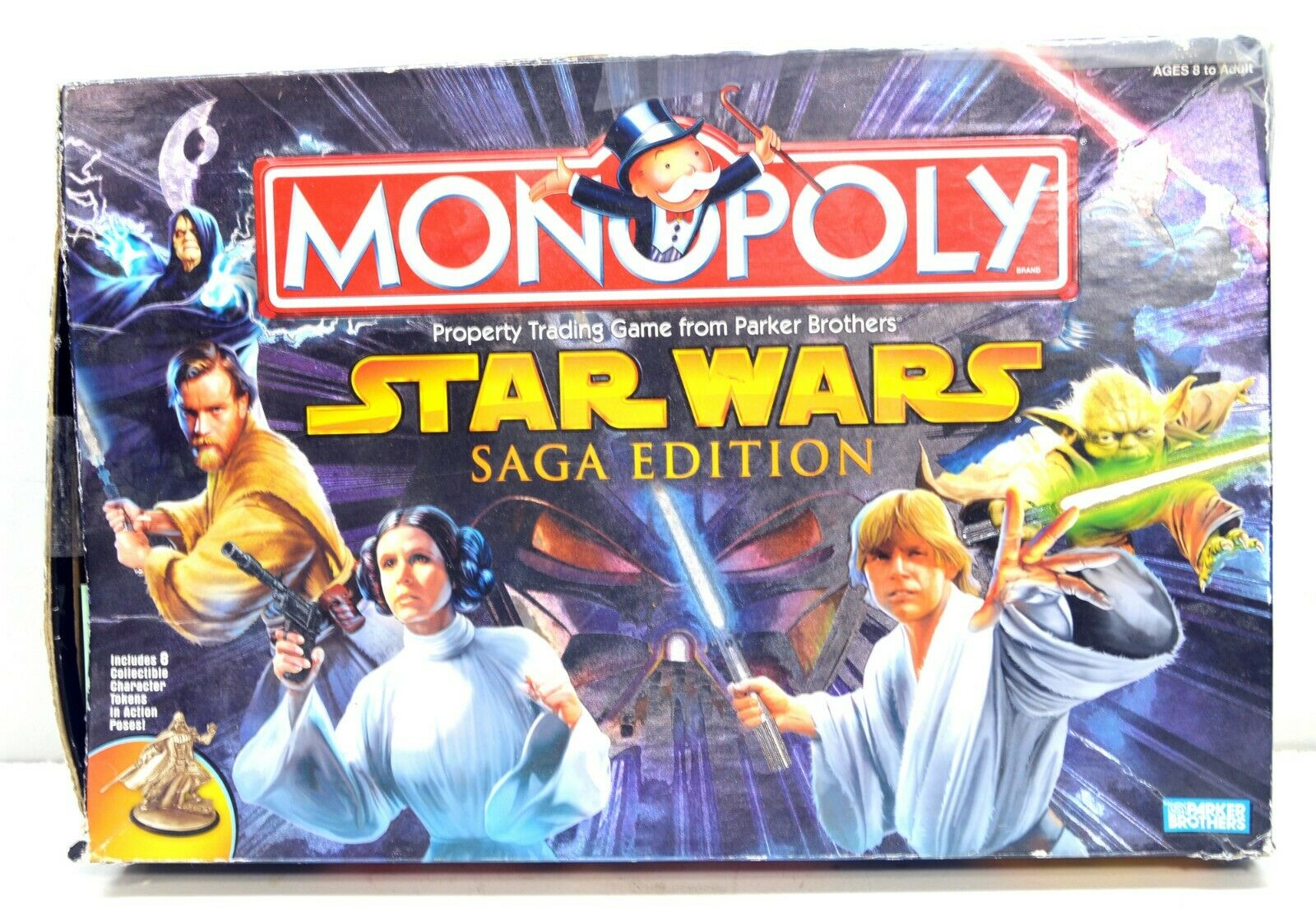 Parker Brothers Star Wars Monopoly Saga Edition Board Game 42452 COMPLETE
