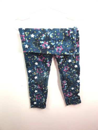Faded Glory Size 5 Girl's Blue Leggings With Stars