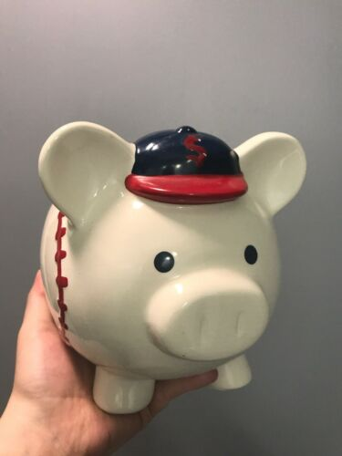 Blue Baseball Cap Piggy Bank for Coins and Savings