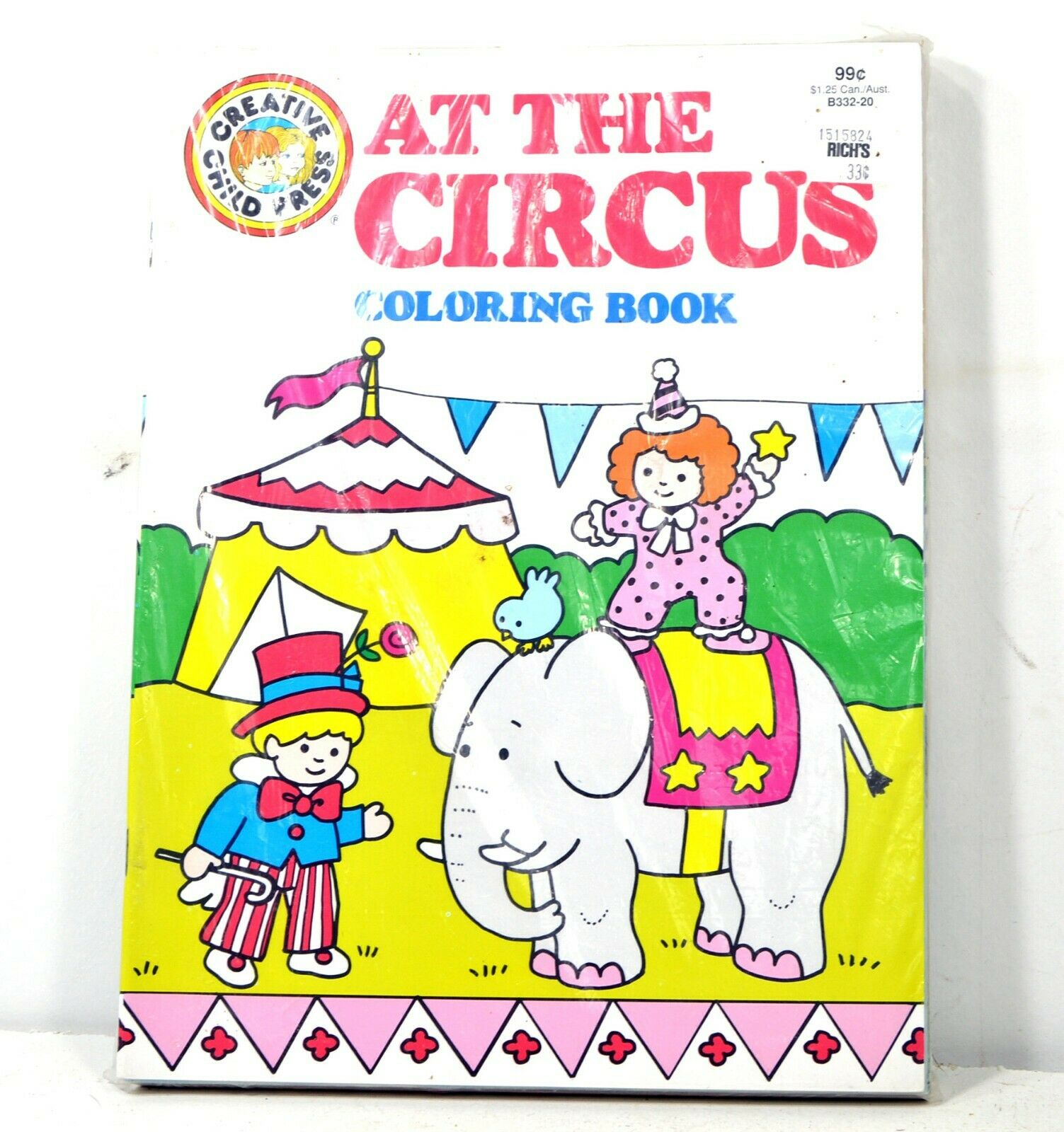 Vintage At the Circus Coloring Books - 10 Books - Childrens Activity