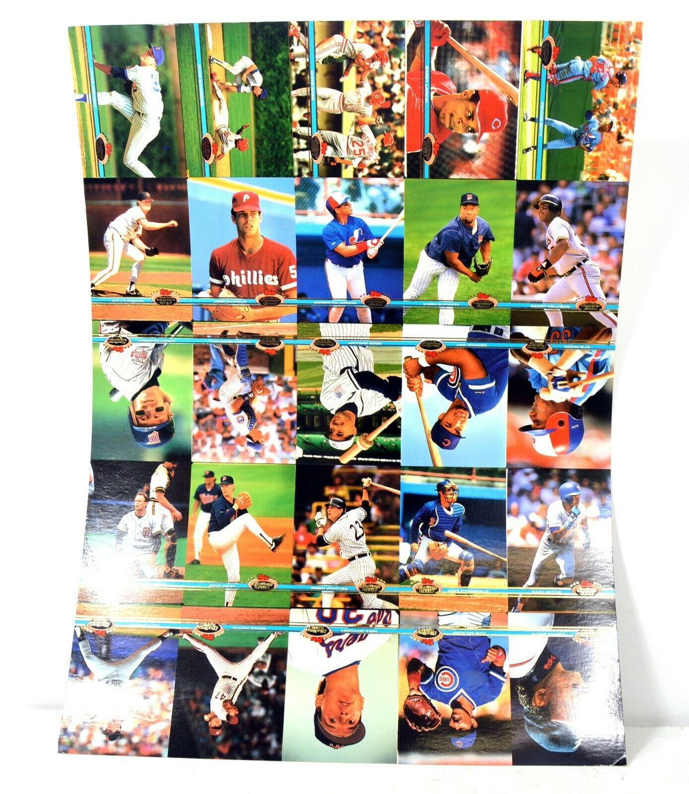 Vintage Topps Stadium Club Baseball Card Sheets / Poster (3)